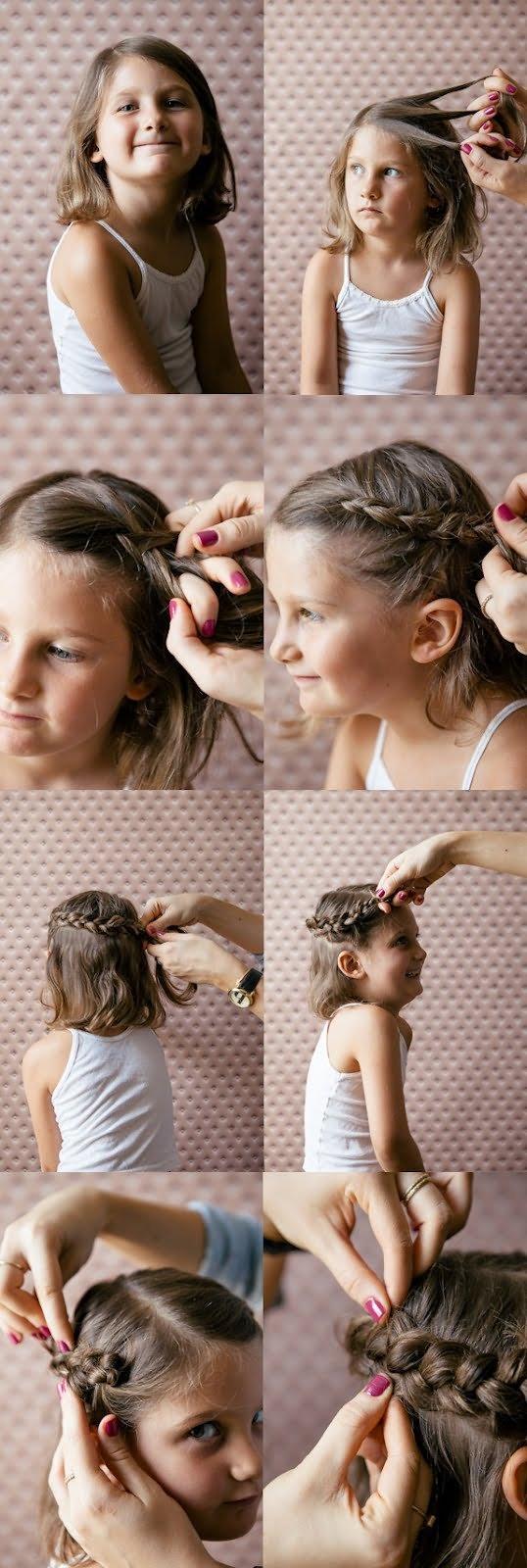 Прически для маленьких девочек своими руками 14