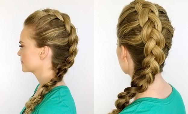 Косички для девочек с пошаговыми фото: французская коса наоборот