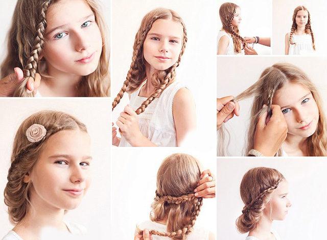 Косички для девочек с пошаговым фото