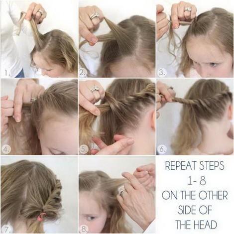 Косички для девочек на короткие волосы: вариант 6