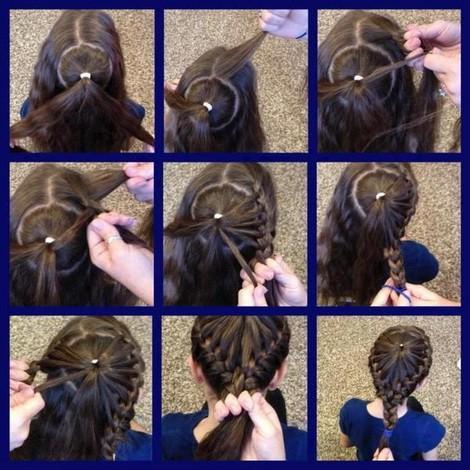 Косички для девочек на длинные волосы: паутинка