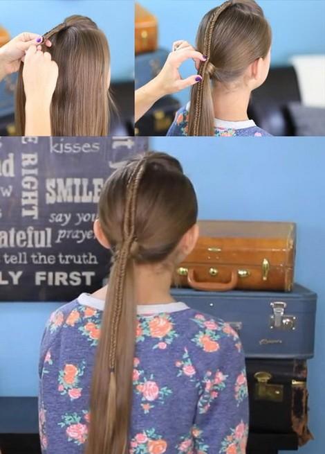 Косички для девочек на длинные волосы: косы и хвост