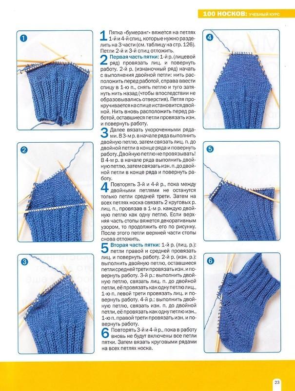 Вязание носков пятка 86