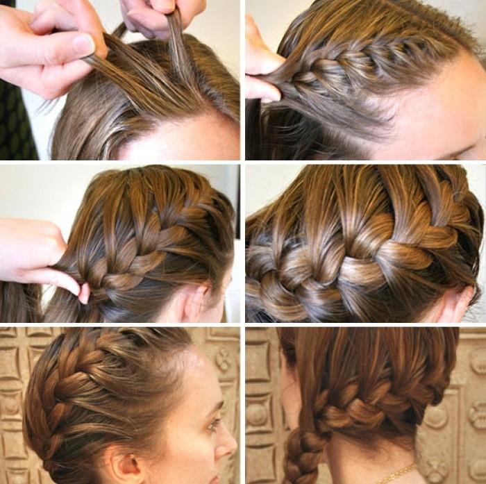 Как сделать колосок на своих волосах 774