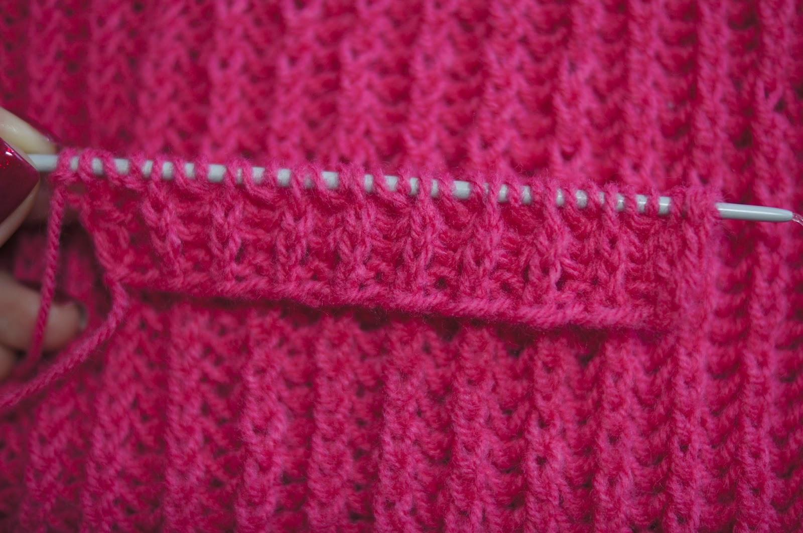 Английское вязание спицами шарфа