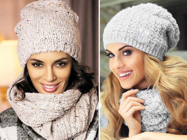Вязание модных шапочек модели