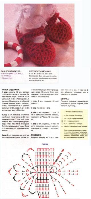 Как вязать пинетки крючком: описание и схема