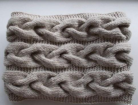 Детский снуд спицами схемы вязания новинки 2016: косичка