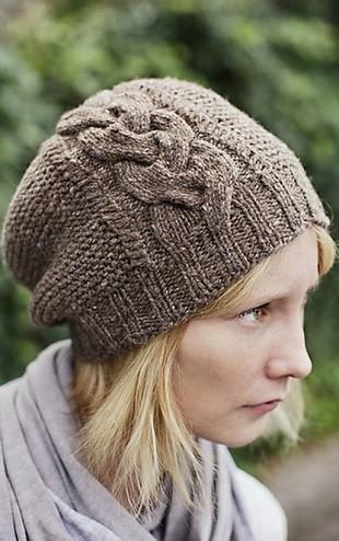 Вязание шапки узором коса: модель 2016 года