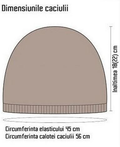 Вязание шапки узором коса 2016: схема 1