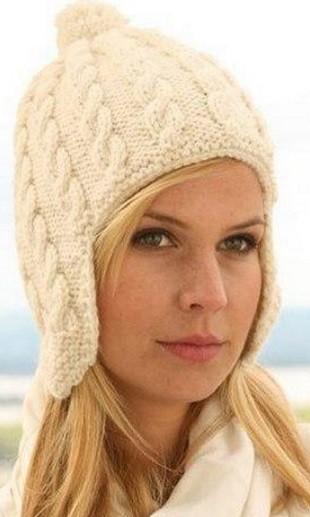 Вяжем шапку с ушками спицами модель 2016