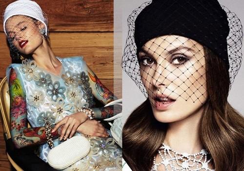 Вязаные шапки для женщин 50 лет: шапки с вуалью