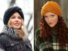 Стильные шапки для женщин спицами