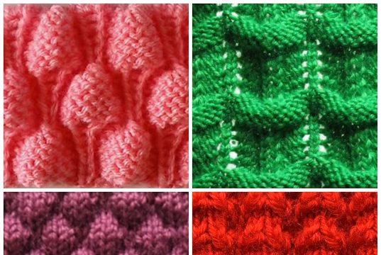 Варианты узоров для вязания спицами