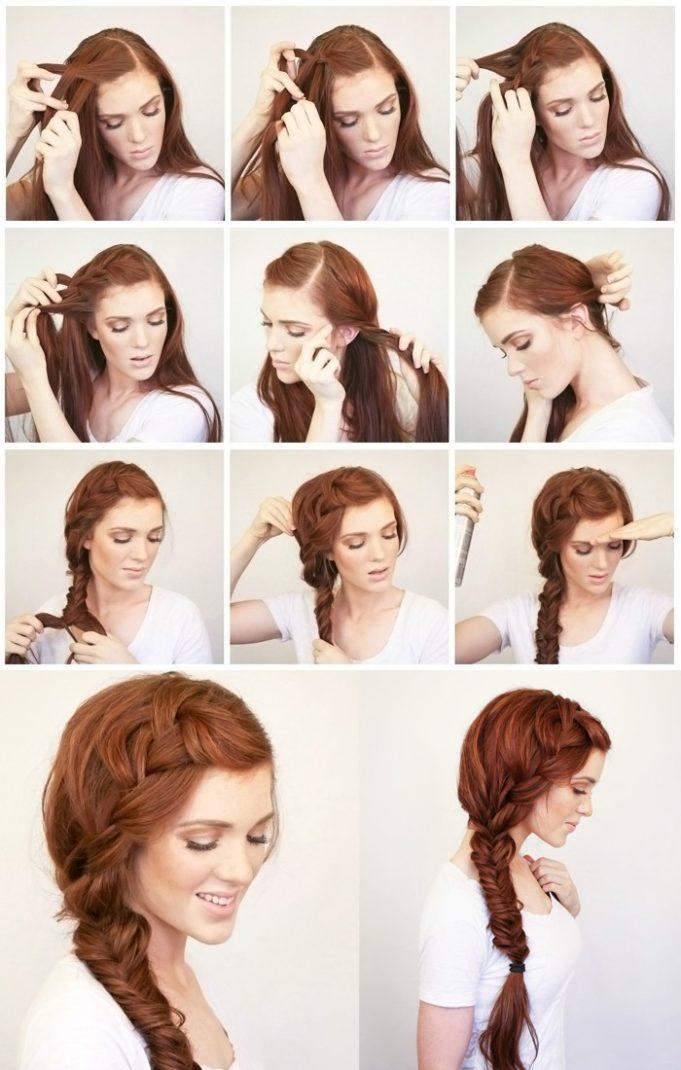 Классические прически на длинные волосы своими руками 38