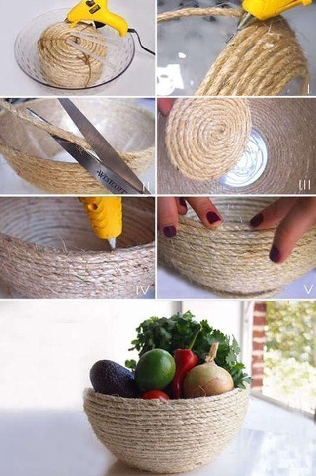 Поделки для сада своими руками: ваза для фруктов