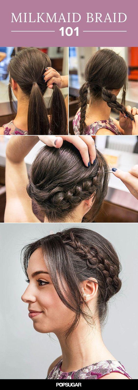 Прически на длинные волосы: коса вокруг головы