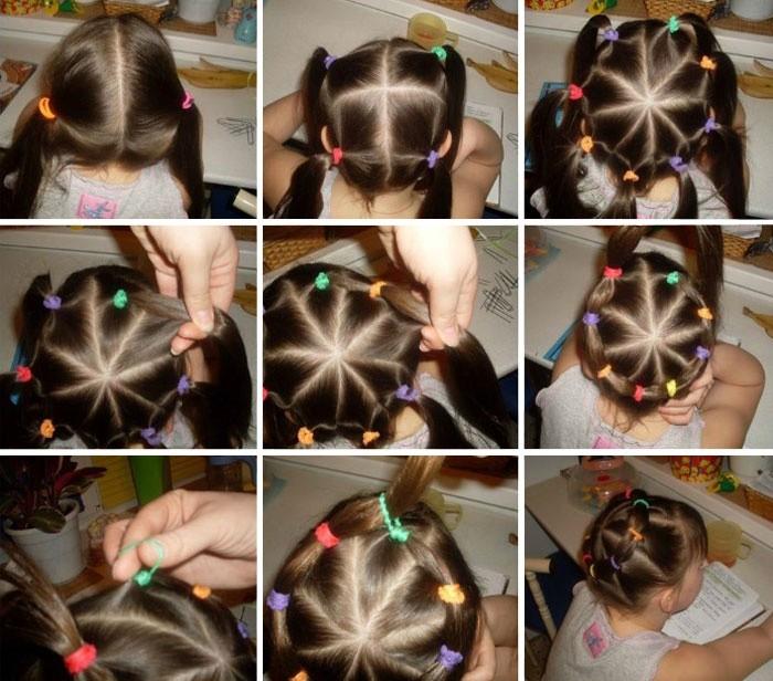 Прически на длинные волосы для девочки: веночек
