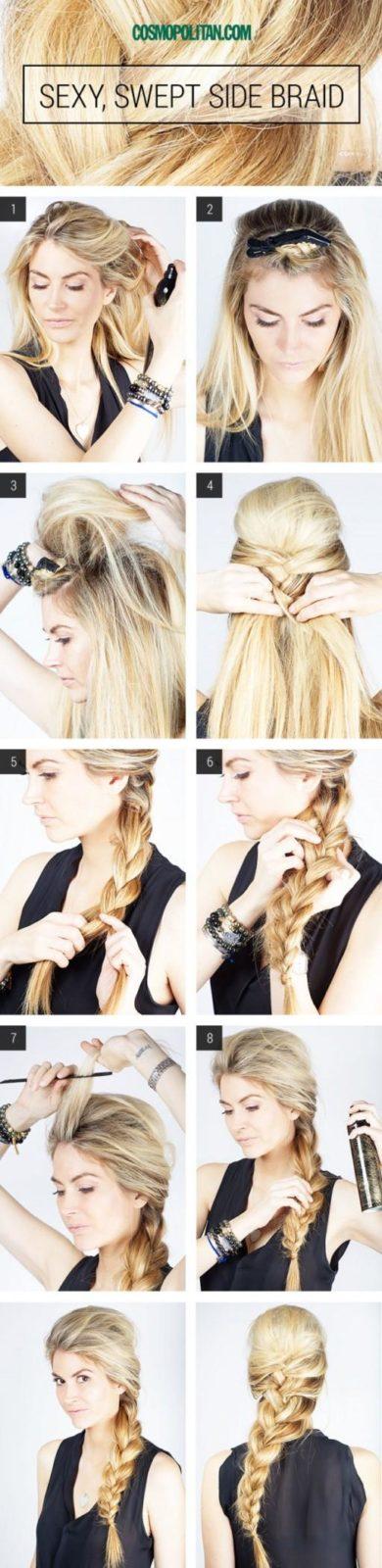 Прически на длинные волосы из кос: пышная коса