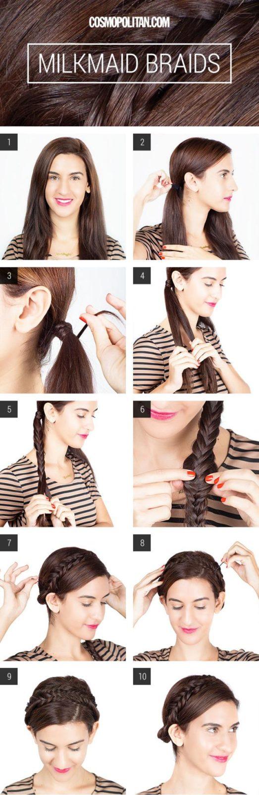 Прически на длинные волосы: собранная коса