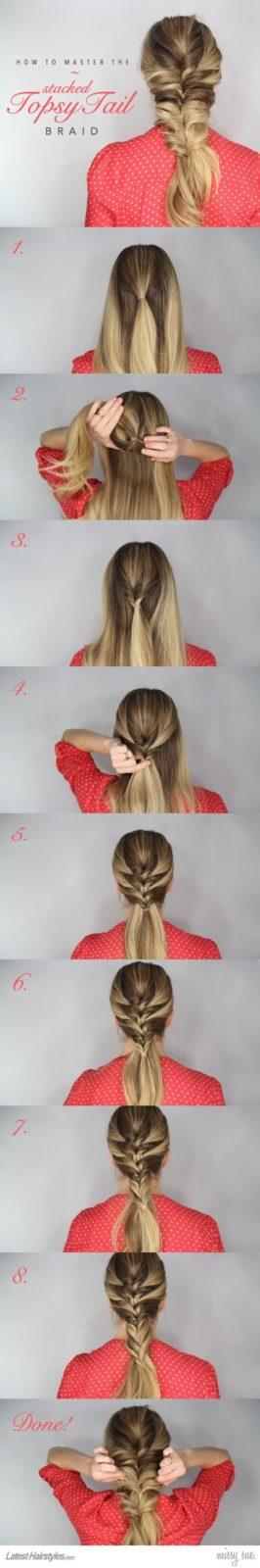 Прически на длинные волосы из кос: необычное плетение
