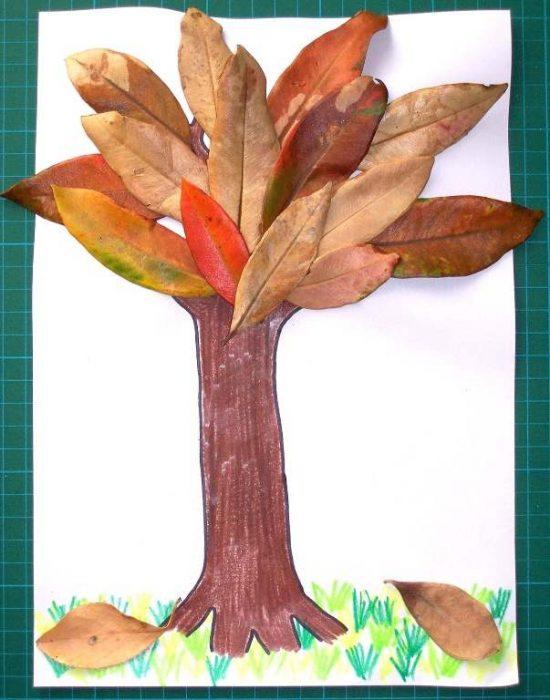 Поделка из листочков своими руками