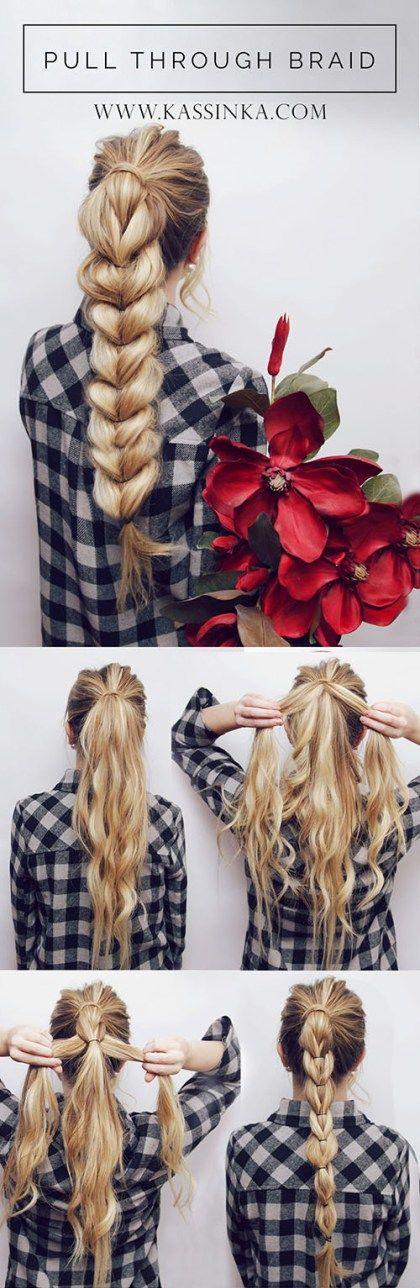 Прически на длинные волосы: суперкосичка