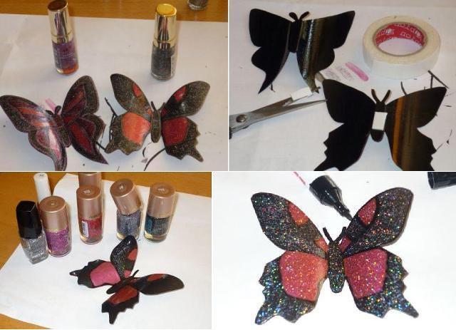 Поделки своими руками: красивая бабочка