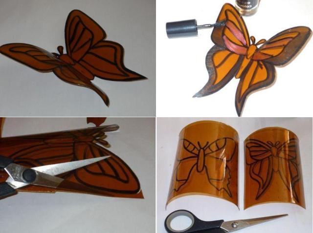 Поделки своими руками: бабочка из пластика