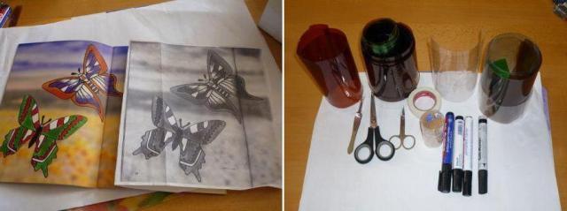 Поделки своими руками: мастерим бабочку из бутылки