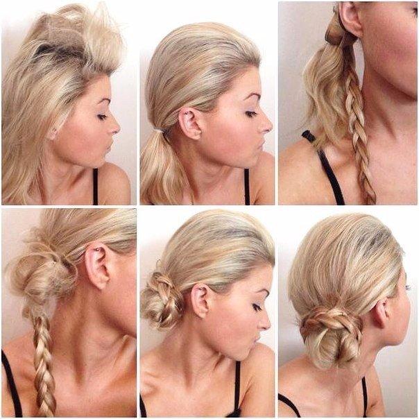 Прически на средние волосы в домашних условиях: коса на боку