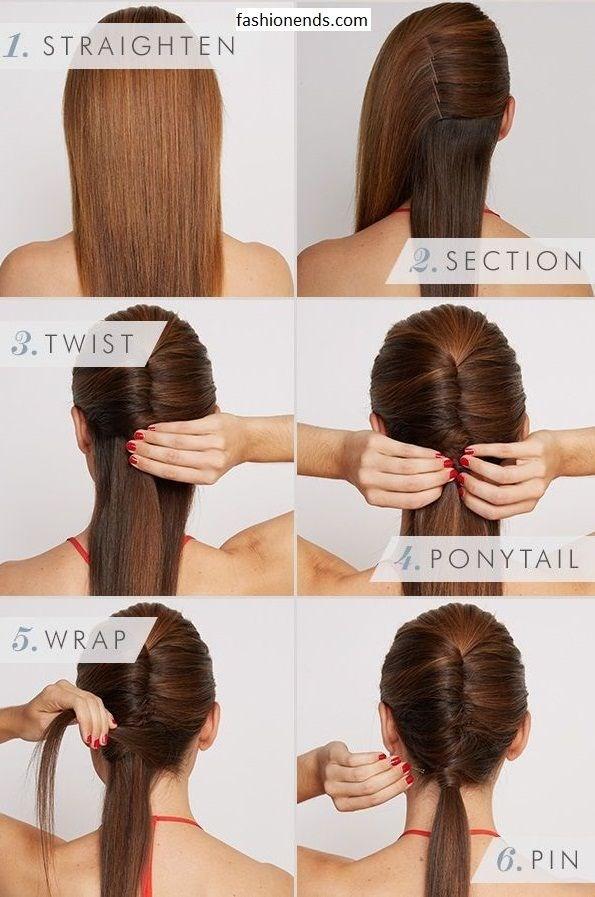 Как собрать средние волосы своими руками