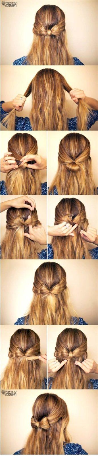 Прически на длинные волосы: бант из волос
