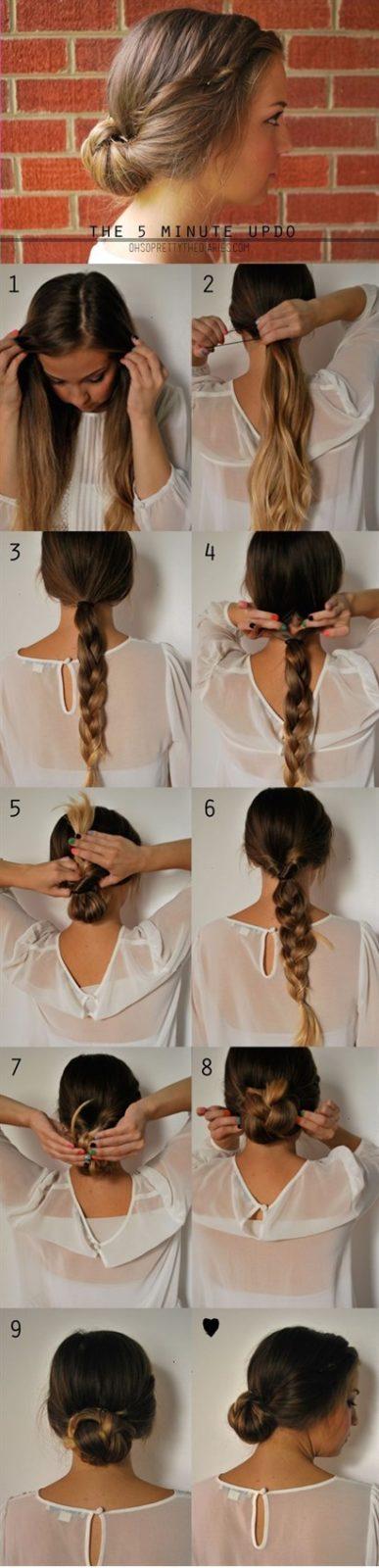 Прически на длинные волосы: деловой стиль