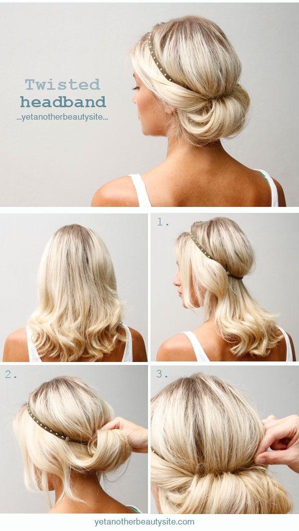Прически на средние волосы: греческая