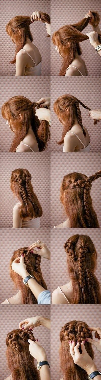 Прически на длинные волосы: сердце из кос