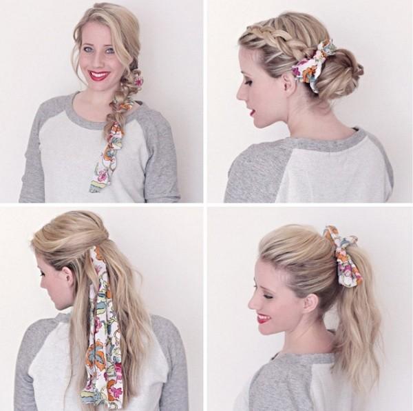 Как красиво завязать платок на голове: дополняем прическу