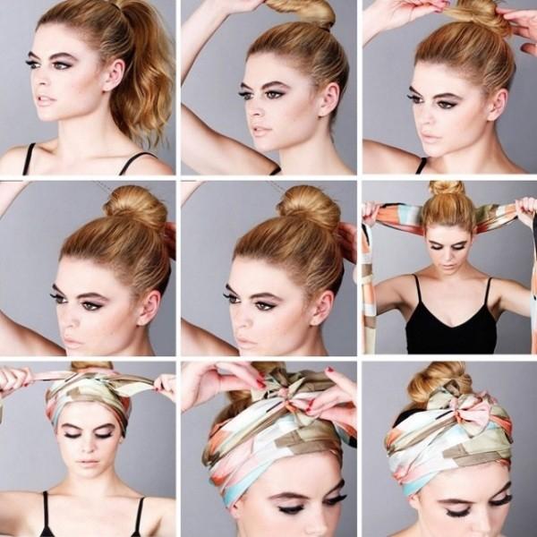Как красиво завязать платок на голове: стильная повязка