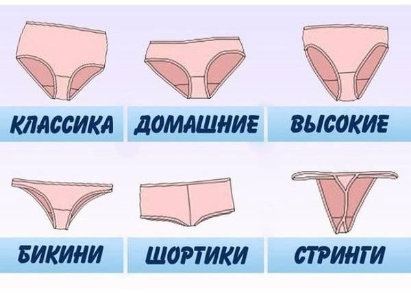 Виды женских трусиков