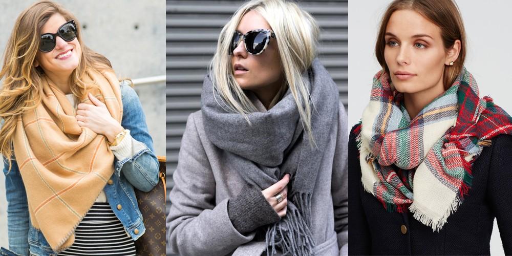 Как завязать шарф осенью и зимой?