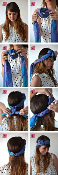 Как красиво завязать платок на голове: милый узелок