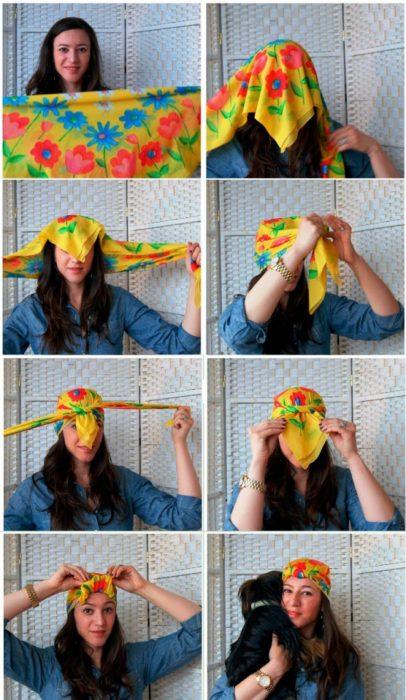 Как красиво завязать платок на голове: пиратский узел