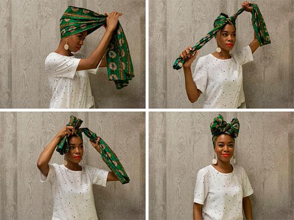 Как красиво завязать платок на голове: африканский бант