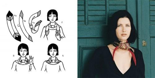 Как красиво завязать платок на шее: 4 способ
