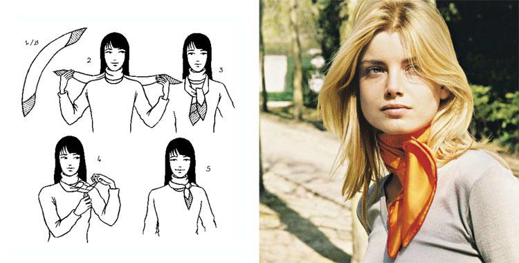 Как красиво завязать платок на шее: 5 способ