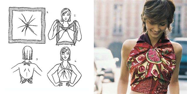Как красиво завязать платок на шее: 6 способ