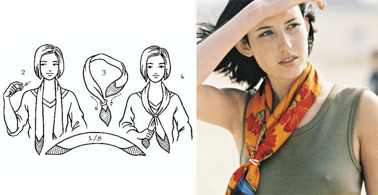 Как красиво завязать платок на шее: 7 способ