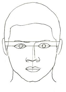 Как нарисовать лицо человека поэтапно (4)