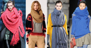 Варианты повязки шарфа