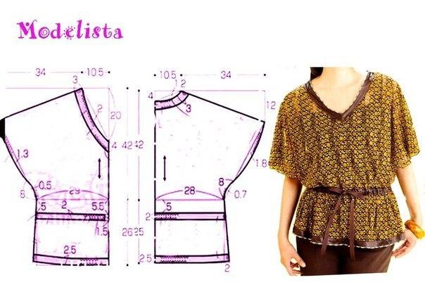 Выкройки блузок для начинающих (1)